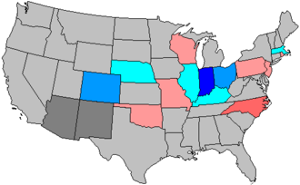 United States House of Representatives elections, 1908 - Image: 61 us house changes