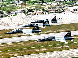 87th Flying Training Squadron - 87th Flying Training Squadron T-38s flying over Laughlin AFB