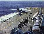 A3D-2 Skywarrior of VAH-4 launching from USS Ticonderoga (CVA-14) 1960.jpg
