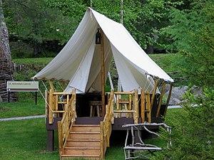Adirondack Experience - Image: ADK Museum Platform Tent