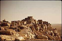 ANCIENT HOPI VILLAGE OF WOLPI. THE HOPI RESERVATION OCCUPIES THE CENTER OF THE MUCH LARGER RESERVATION OF... - NARA - 544421.jpg