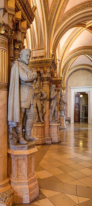 Johann Tserclaes, Count of Tilly - Statue of Tilly in the hall of fame of the Museum of Military History, Vienna