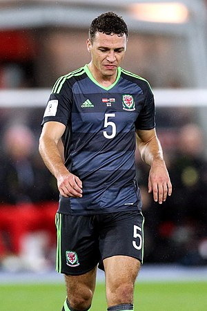 James Chester - Chester playing for Wales in 2016