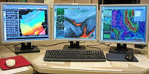 Advanced Weather Interactive Processing System - AWIPS graphics workstation.
