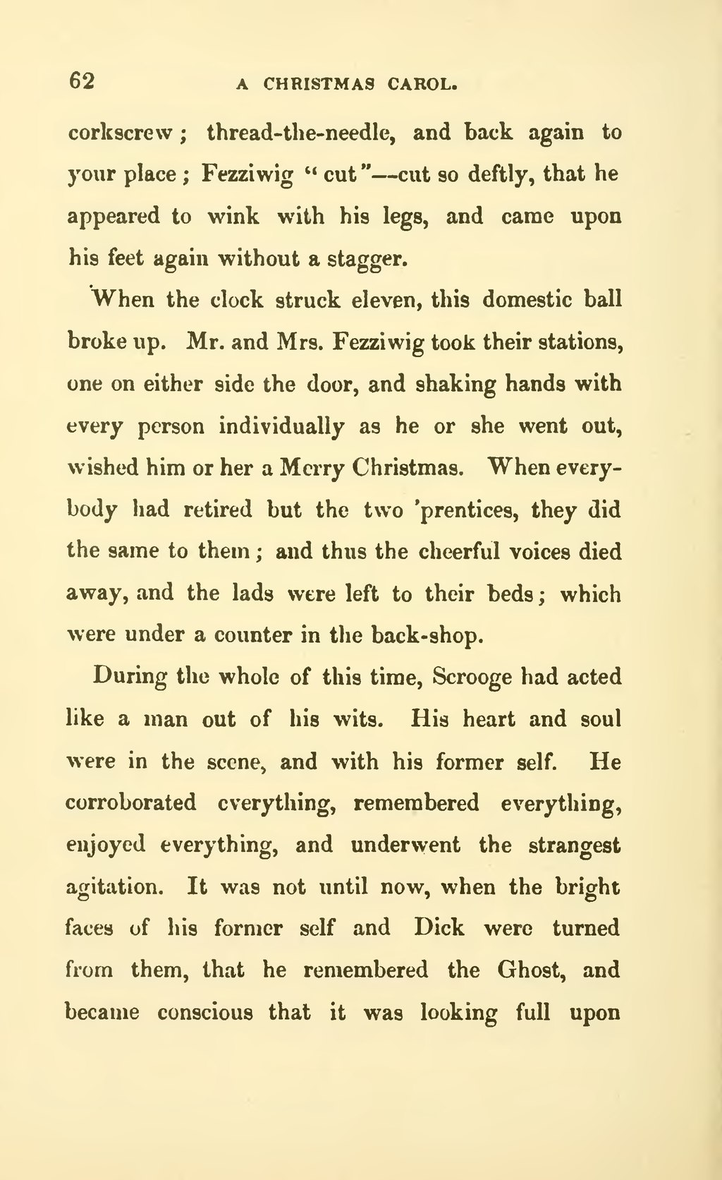 the bright faces of his former self and dick were turned from them that he remembered the ghost and became conscious that it was looking full upon - A Christmas Carol Full Text