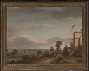 A Country House in a River Landscape, Previously Identified as Oatland