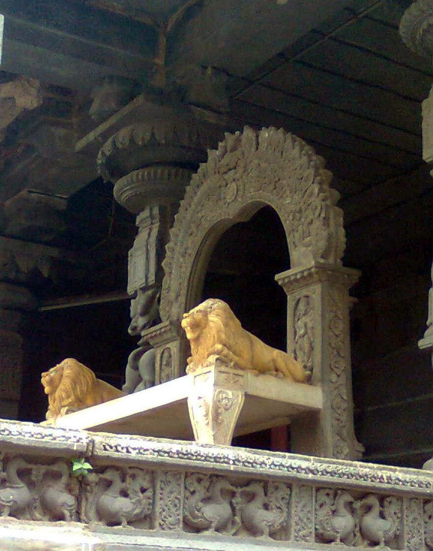 A Stone carved throne in the backyard of Simhachalam temple