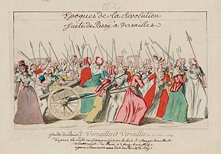 Womens March on Versailles March by market-women during the French Revolution