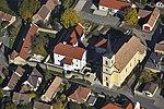 A renovált szászvári vár fényképe a levegőből.jpg