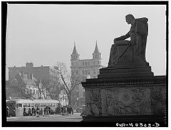 A statue in front of the National Archives Building 8d41634v.jpg