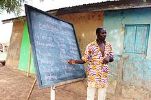 A teacher at School for Life, a project in northern Ghana, April 2012 (8405073471).jpg