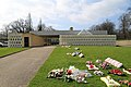 A view of foral tributes and crematorium at City of London Cemetery.jpg