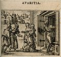 A wealthy bürger refuses charity to an old couple. Etching b Wellcome V0007639ETL.jpg