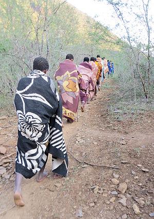 Ulwaluko - Abakhwetha (group of initiates)