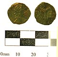 Aberford 7. Roman coin; Contemporary copy of a Barbarous Radiate, DIVVS CLAVDIVS II (FindID 234813).jpg