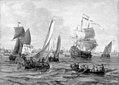 Abraham Storck - Skibe og robåde på havet ud for Amsterdam - KMSst335 - Statens Museum for Kunst.jpg