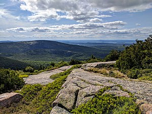 Acadia National Park - A view of Acadia National Park from the Blue Hill Overlook