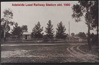 Adelaide Lead, Victoria - Adelaide Lead Railway Station about 1900