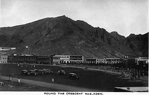 Aden Province - The Aden crescent in 1931.