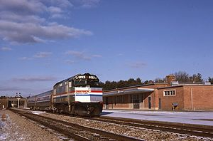 Adirondack (train) - The Adirondack at Saratoga Springs in 1980