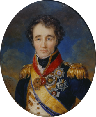 Sidney Smith (Royal Navy officer) - Miniature portrait by Louis-Marie Autissier, watercolour on ivory, 1823.