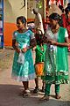 Adolescent Girls - Durga Puja Festival - FD Block - Salt Lake City - Kolkata 2013-10-11 3265.JPG