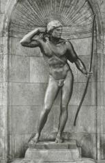 Adolf von Hildebrand - 'Jäger' vom Hubertusbrunnen in München.png