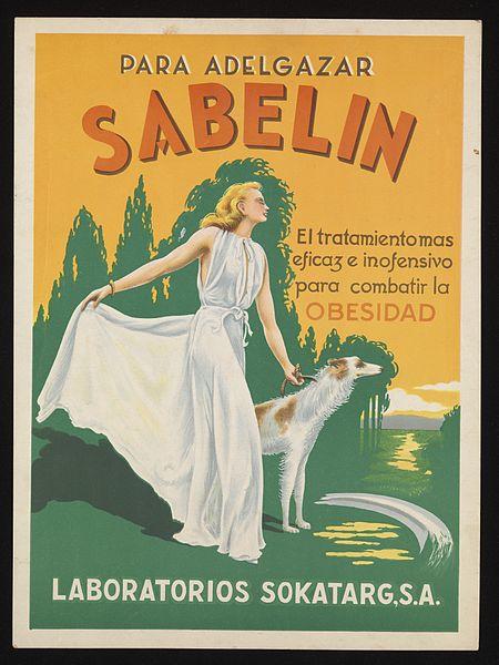File:Advertisement for Sabelin slimming medicine Wellcome L0075394.jpg