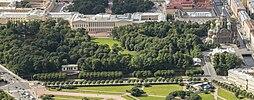 Aerial view of Mikhailovsky Garden