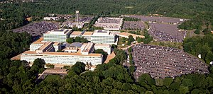 Central Intelligence Agency - Aerial view of the Central Intelligence Agency headquarters, Langley, Virginia.