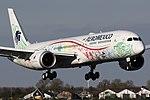 Aeroméxico B787-9 (XA-ADL) landing at Amsterdam Airport Schiphol (2).jpg