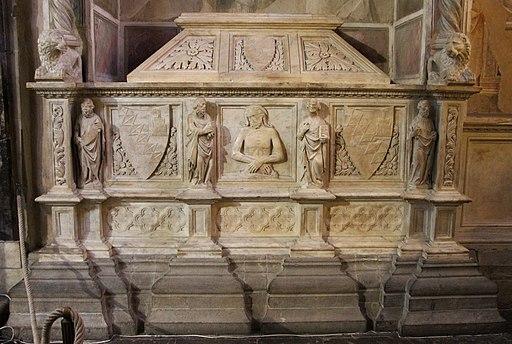Agnolo di Ventura, tomba di Bettino de' Bardi, Cappella Bardi di Vernio, Santa Croce, Firenze