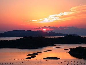 Shima, Mie - Sunset over Ago Bay, Shima
