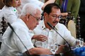 Agriculture Secretary Manny Piñol and Cabinet Secretary Leoncio Evasco reviews some papers.jpg