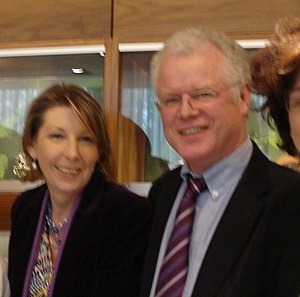 Aine Lawlor - Áine Lawlor (left) with Cathal Mac Coille