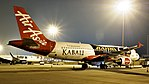 """Air Asia India's A320 with the """"Kabali"""" livery in Bangalore Airport (39661499161).jpg"""