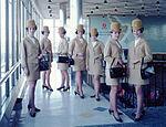Air Hostess Uniform 1965 Gold 003 (9626674016).jpg