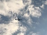 Airbus A330 Czech Airlines above Prague.jpg