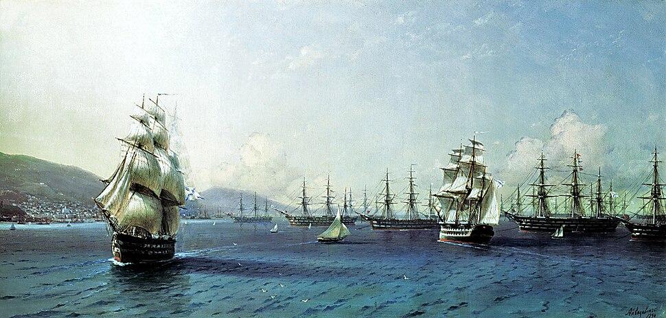 Aivazovsky - Black Sea Fleet in the Bay of Theodosia