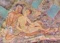Ajanta Cave 1 ceiling medallion couple.jpg