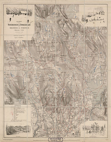 kart over sørkedalen File:Akershus amt nr 63  Kart over Nordmarken og Sørkedalen, 1890  kart over sørkedalen