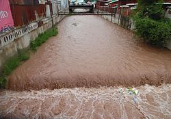 Ala Archa river in Bishkek near Osh Market after spring rains.jpg