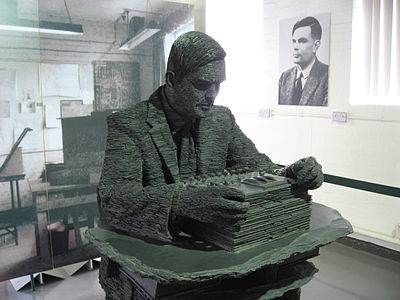 Alan Turing's statue at Bletchley Park Alan Turing.jpg