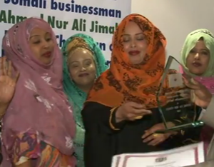 Al-Barakat - Somali women at a social event for the relaunched Al-Barakaat, 2014.