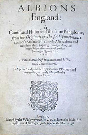 William Warner (poet) - Title page of Albion's England, 1586