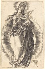Virgin on a Crescent with a Starry Crown