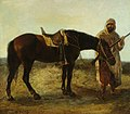 Alexandre-Gabriel Decamps (1803-1860) (attributed to) - An Arab and His Steed - VIS.536 - Sheffield Galleries and Museums Trust.jpg