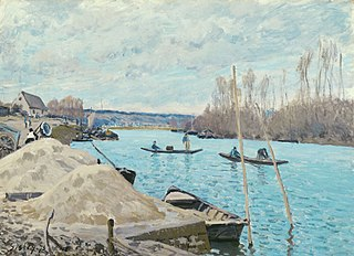 The Seine at Port-Marly, Piles of Sand
