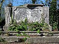 All Hallows Church Tottenham London England - churchyard chest tomb overgrown 8.jpg