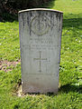 All Saints' Church, High Roding, Essex, England - graveyard war grave.jpg